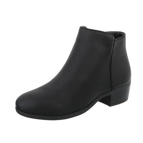 Zapatos para mujer Botas Tacón de vaquero Botines clásicos Ital-Design: Amazon.es: Zapatos y complementos