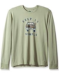 Men's Crusher Long Sleeve Simple Tailgate Dstgrn T-Shirt,