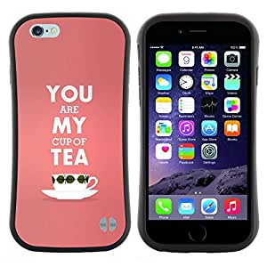 "Hypernova Slim Fit Dual Barniz Protector Caso Case Funda Para Apple (5.5 inches!!!) iPhone 6 Plus / 6S Plus ( 5.5 ) [Mi taza de té de melocotón de San Valentín de texto Rosa Amor""]"