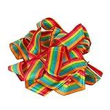 Ayygiftideas 6PCS Rhythmic Gymnastics Ribbon Wand / Stunt Streamer / Gym Dance Ribbon (Rainbow)