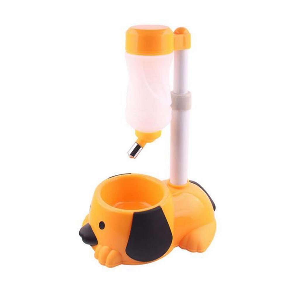 WW Pet Automatic Waterer Hanging Water Bottle Liftable Cat Dog Standing Water Dispenser Automatically Feeding Water Height Adjustable,Orange