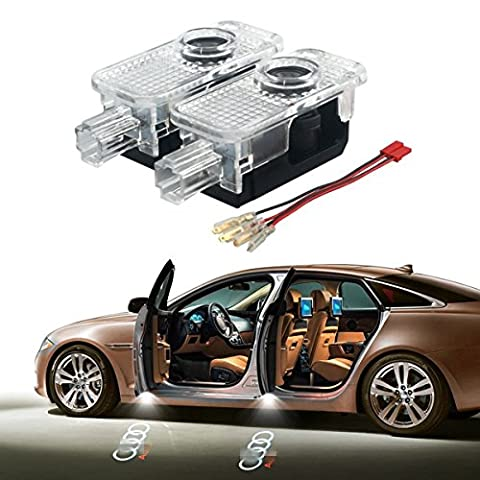 Car Door Welcome Led Laser Light for Audi, YANF Easy-Install Bright Ghost Shadow Courtesy Guest Lamp Kit for Audi A1 A3 A4 A5 A6 A7 A8 Q3 Q5 Q7 R8 TT - Audi A6 Light