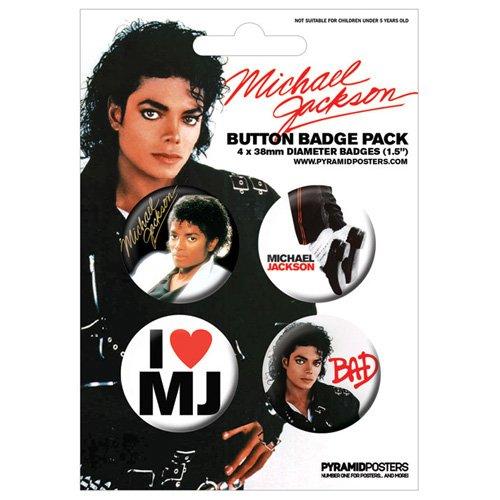 Pyramid International - Michael Jackson pack 4 badges Design ()