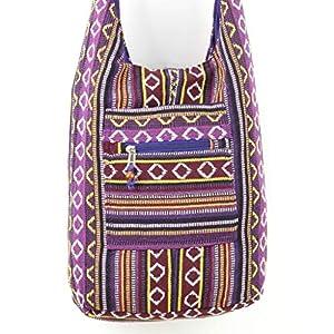 Caravan Diamond Pattern Canvas Sling Shoulder Bag