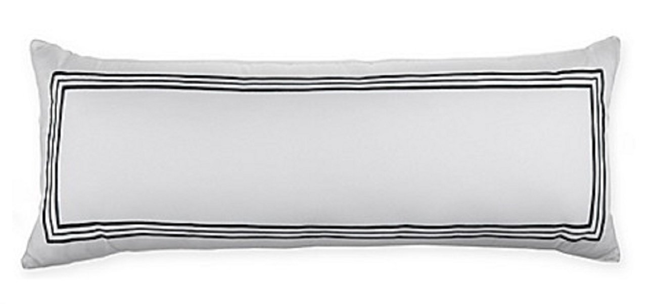 Wamsutta Hotel Triple Baratta Stitch Bolster Throw Pillow in Forest