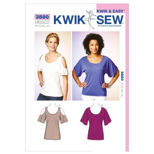 Kwik Sew K3880 Tops Sewing Pattern, Size XS-S-M-L-XL by KWIK-SEW PATTERNS