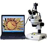 3.5X-90X Stereo Zoom Microscope w Dual Halogen Lights + 10MP Camera