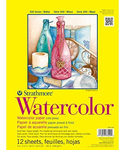 Strathmore 360-109 300 Series Watercolor Pad, 9