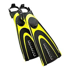Atomic Aquatics Blade Fins - Yellow, L