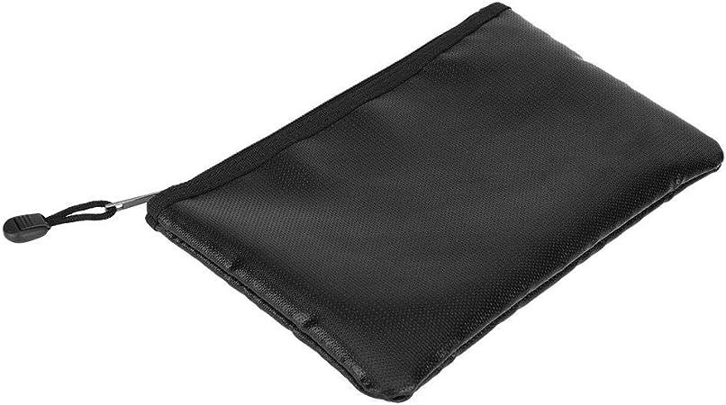 per documenti A4 nero ignifuga passaporto 34 x 23 cm banconote oggetti di valore Vemingo borsa portadocumenti ignifuga impermeabile in silicone di alta qualit/à