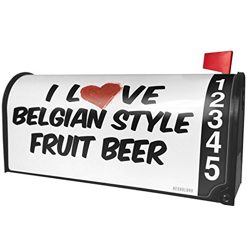 NEONBLOND I Love Belgian Style Fruit Beer Magnetic Mailbox Cover Custom - Fruit Belgian Beer