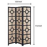 Modern Design Black Wood Framed 3-Panel Folding