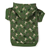 Zack and Zoey Polyester/Cotton Special Ops Dog Hoodie, Small, Army Green, My Pet Supplies