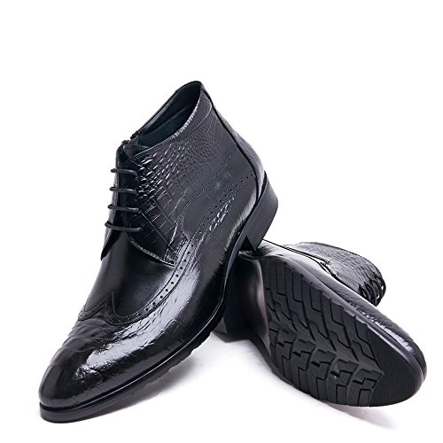 Krokodil In Reliëf Lederen Leren Chukka-schoenen Van Woufo Heren Zwart