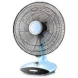 Desktop Fan, Home Mute Timing Swinging Floor Fan Student Dormitory Office Desk Fan-Blue