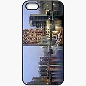 Protective Case Back Cover For iPhone 5 5S Case Dubai Black