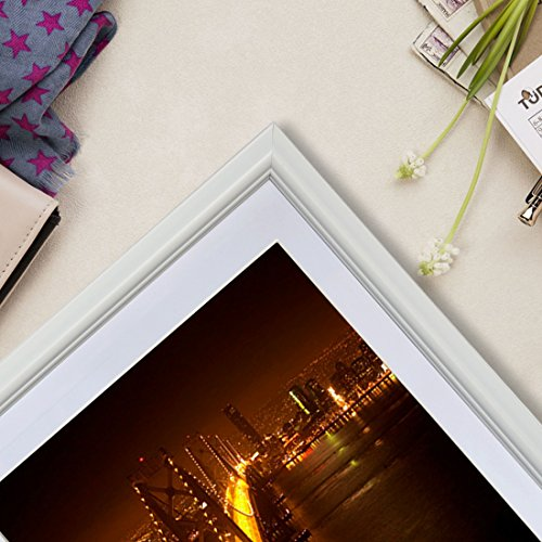 PETAFLOP 5x7 Picture Frame Set Hold 5 by 7 inch White Photo Frames, Set of 8 Pieces by PETAFLOP (Image #7)