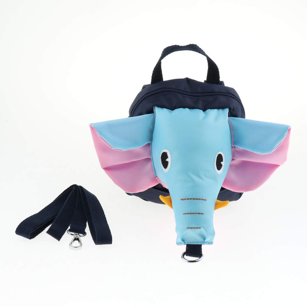 Anti-Lost Design KESOTO Baby Elefant Kinderrucksack mit Leine Dunkelblau Kindergarten Schultasche mit Haltegurt