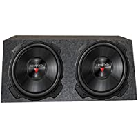 2) Kenwood 2000 Watt 12 Inch 4 Ohm Subwoofers + QPOWER Dual Sealed Enclosure
