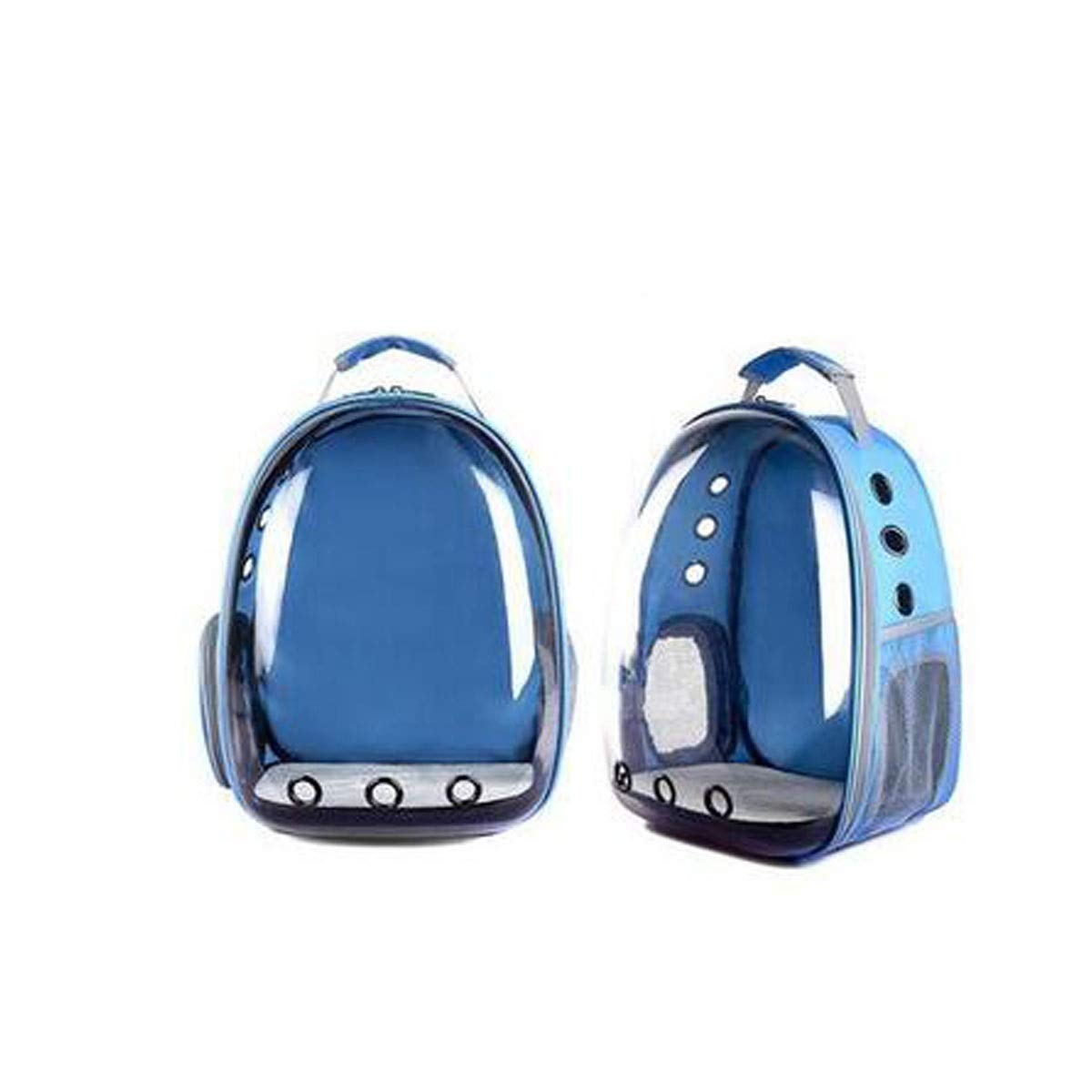 bluee Outdoor Pet Backpack, Space Capsule Pet Backpack, Transparent Waterproof Cat with Backpack (color   bluee)
