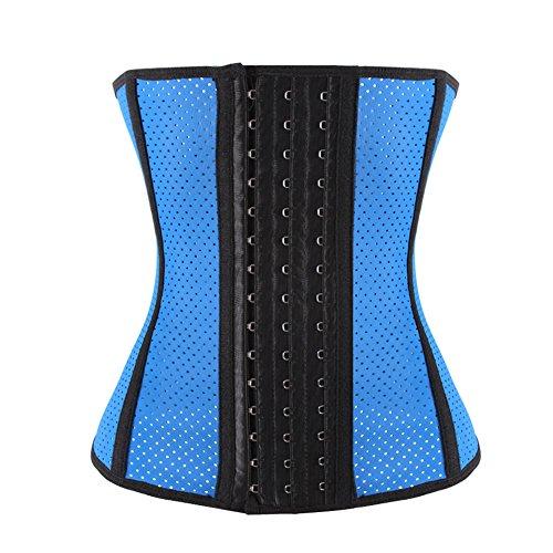 Waist Training Corset Body Shaper (Blue) - 2