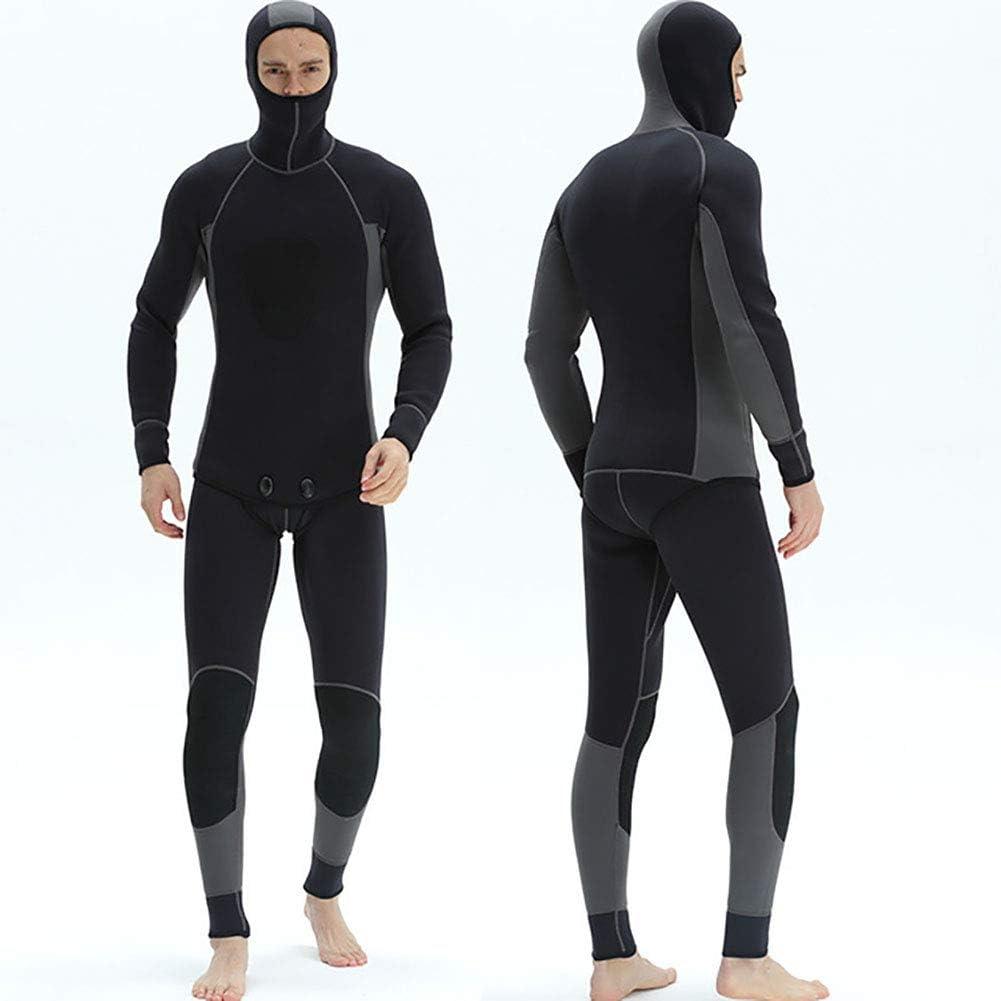 GPFDM Uomo 3Mm Neoprene Muta da Sub Inverno Caldo Elasticit/à Manica Lunga Immersione Tuta Subacquea Sport Acquatici Surf Nuoto Triathlon Snorkeling Abbigliamento da Sub,Blu,S