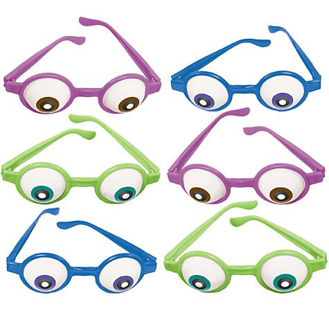 [Amscan Mons Terrific Disney Monsters University Eyeball Glasses Costume Party Accessory Favor and Prize Giveaway (6 Piece), Multicolor, 5 1/2