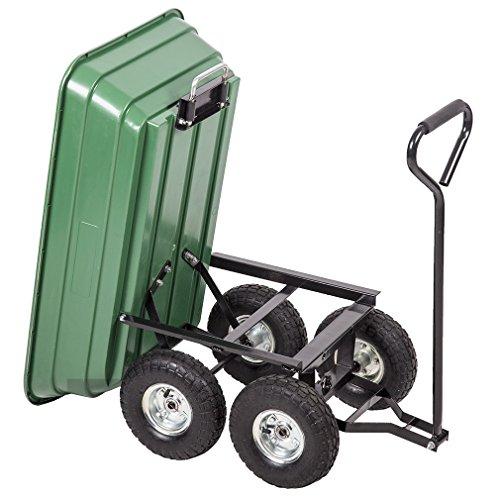 BestMassage Garden Cart Patio Outdoor Heavy Duty Poly Garden Utility Yard Dump Cart Garden Cart Wheel Barrow by BestMassage (Image #3)