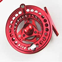 SUNDELY Red 85mm 5/6 Aluminum Fly Fishing Reel Trout Fishing Left or Right Handed