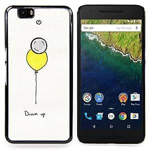Stuss Case / Funda Carcasa protectora - Texto motivación inspiradora Globo Amarillo - Huawei Google Nexus 6P
