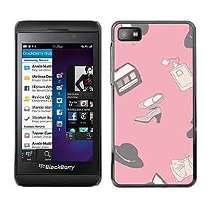 TopCaseStore / la caja del caucho duro de la cubierta de protección de la piel - Design Pink Clothing Shoes - Blackberry Z10