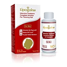 Lipogaine for Men: Intensive Treatment & Complete Solution for Hair Loss / Thinning (For Men Only Formula, 2oz, one month supply)