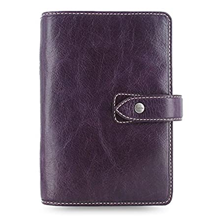 Amazon.com : Filofax Malden Leather Personal Size Purple ...