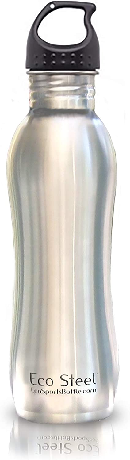 Eco Sports Twist Top Bottle - 27 oz - with Leak Resistant Twisted Top - Certified 100% BPA and Lead Free