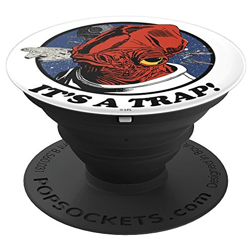 Star Wars Admiral Ackbar It's A Trap Catchphrase - PopSockets Grip and Stand for Phones and Tablets