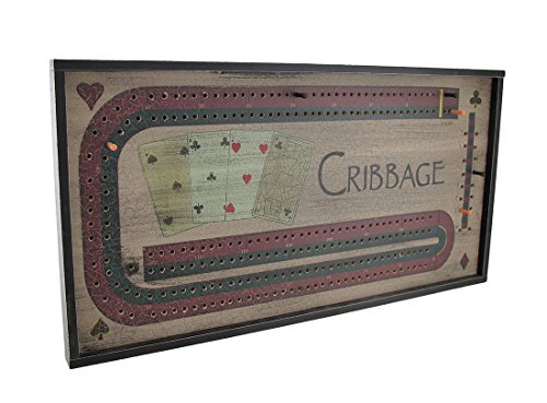 """OHIO WHOLESALE, INC. CWI Gifts Vintage Inspired Cribbage Game Board and Pieces, 10.75"""" x 20.5"""""""