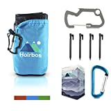 """#10: Pocket Blanket with Free Bottle Opener Carabiner + 4 Stakes   Large Size 56""""x 83""""   Lightweight Compact Waterproof and Sand Proof Mat for Picnic, Beach, Yoga, Camping, Hiking, Festivals By Holrbos"""