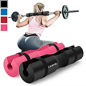 【2020 Upgraded】 Squat Pad Barbell Pad for Squats, Lunges, and Hip Thrusts – Foam Sponge Pad – Provides Relief to Neck and Shoulders While Training