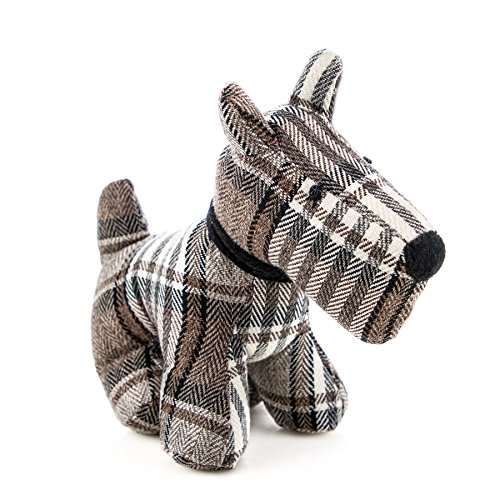 Nicola Spring Dog Door Stop in Fabric - Bentley - Vintage Decorative Doorstop for Home / Office