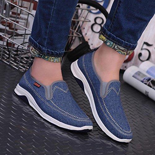 UOMOGO piatte Scarpe stringate Blu 39 sportive unisex denim Resistente basse da amante all'abrasione 2 44 scarpe uomo stile in rrFqwCdnxE