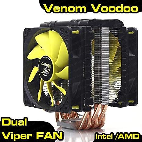 Akasa AK-CC4008HP01 Venom Voodoo - Ventilador para CPU: Amazon.es ...