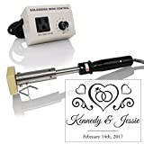 Custom Electric Branding Iron with Wedding Rings Design Includes Heating Tool and Temp Control Unit