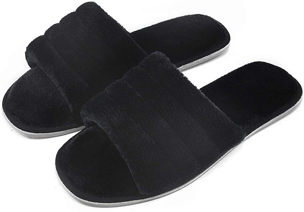 Memory Foam Open Toe Slide Slippers