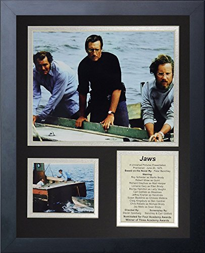 "Jaws Movie  Collectible | Framed Photo Collage Wall Art Decor - 12""x15"" 