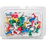 Gem PPC40AS Pushpin Caddy 40/PK 3/8'' Long Clear Tub 40/PK Assorted