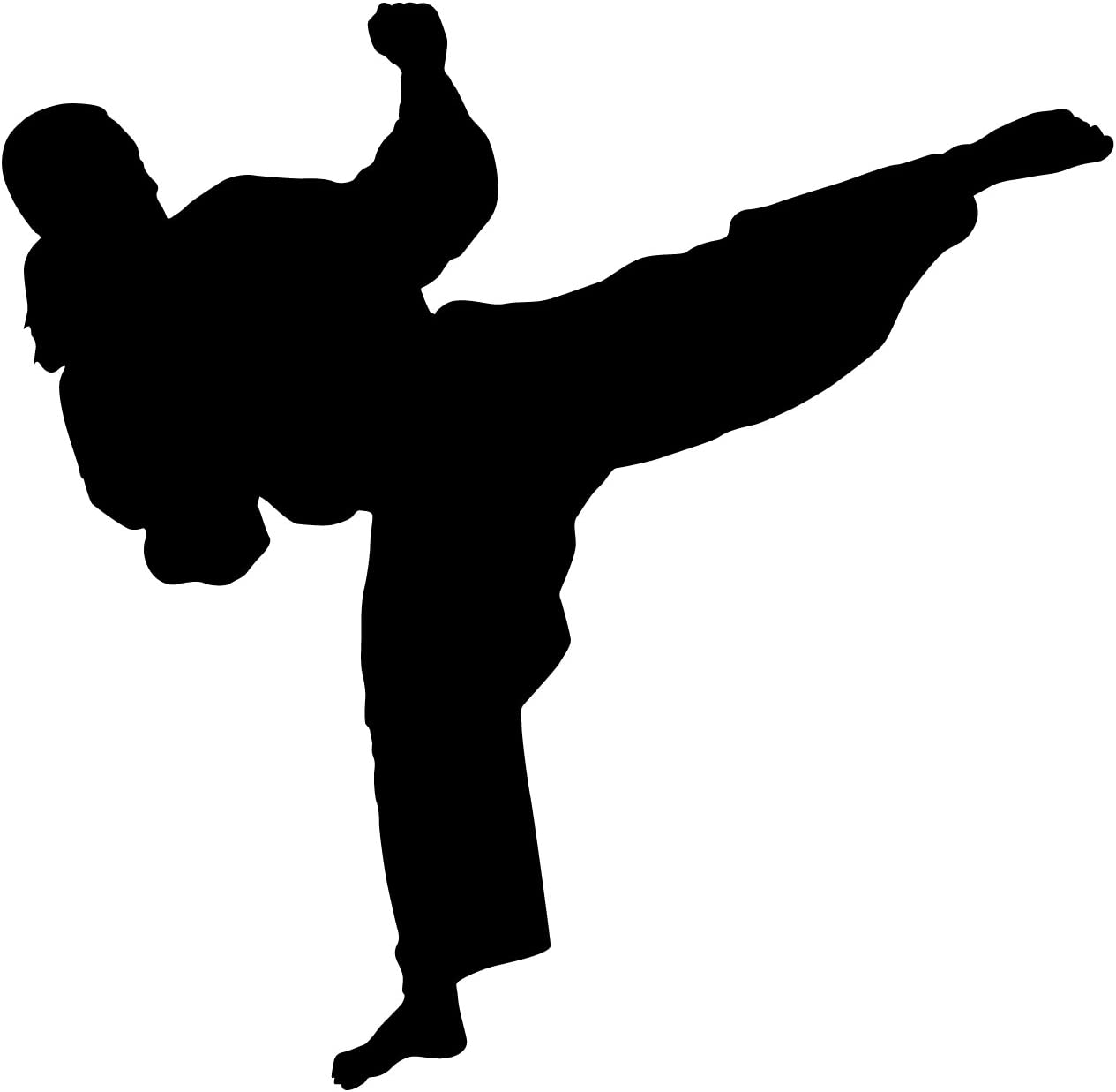 Martial Arts Wall Decal Sticker 30 - Decal Stickers and Mural for Kids Boys Girls Room and Bedroom. Karate Sport Wall Art for Home Decor and Decoration - Martial Art Kung Fu Taekwondo Silhouette Mural