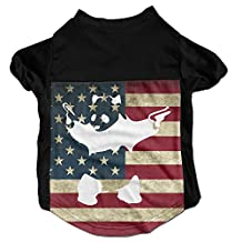 Funny Cute Panda Gun Costumes, Clothing, Shirt, Vest, T-shirt, Puppy Pet Dog Cat Fashion 100% Polyester Fiber Tee Gift For Any Animal Fan Lovers Black Medium