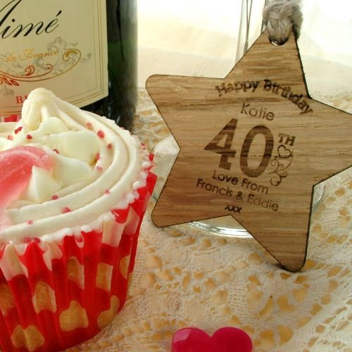 Female 40th Birthday Gift For Her Personalised Decoration Wooden Star Amazoncouk