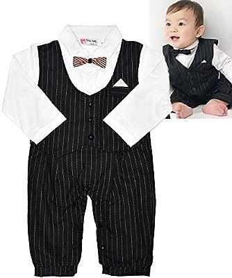 Baby Boy Esmoquin en traje de 1 pieza para bebé traje de ...