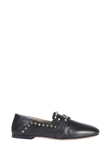 Versace Collection Mujer Lsd569dlna1l410h Negro Cuero Mocasín: Amazon.es: Zapatos y complementos